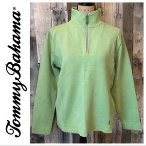Tommy Bahama Green Pullover Sweater 1/4 Zip Shirt